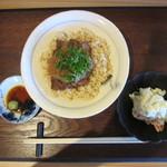 帝 - 牛もも肉のステーキ丼 950円