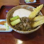 明神そば - 新明1300円(ゴボウ、焼き葱、とろろ、地鶏)