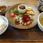 ヤサシイウタ - ランチセット 2013.8月訪問