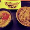 西新宿 小町食堂 - 料理写真:干し鰯と豚汁、15穀米のご飯です