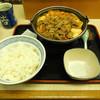 吉野家 - 料理写真:...「牛チゲ鍋膳 大盛(680円)」、コレは辛い!牛すき鍋膳が正解?!