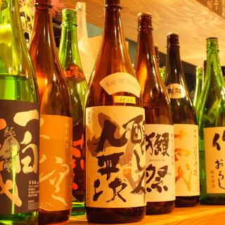 京都の蒼空、英勲、松本、全国で有名な獺祭、九平次を取り揃えて
