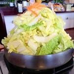 びわこ食堂 - とりやさい鍋 680円×2 (2014.01現在) お初の方は皆さんびっくりします(笑)