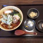手打ちうどん おがわ - 天ぷらうどん 海老も野菜も天ぷらが良い感じ