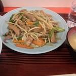 幸楽 - レバニラ炒め定食