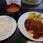 とんぼ セブ - 料理写真:牛ランプ(上)ビフカツ 150g