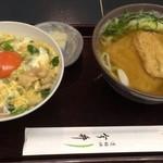 道頓堀 今井 - 親子丼と普通サイズのきつねうどん