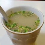 赤坂十八番 - 豚骨スープ(50円)