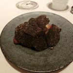 レストラン ラ フィネス - トリュフのクロワッサンの形をしたブリオッシュ