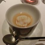 レストラン ラ フィネス - 飾り切りをした百合根の入ったコンソメ