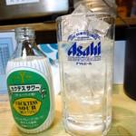 やきとり 寿々木 - 焼酎サワー430円