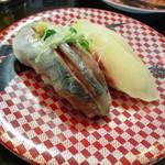 すし銚子丸 - 鯵と鯛をはんぶんこ