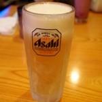 シンズ・キッチン - 生ビールのジョッキは凍ってます