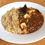 チャヤマクロビ - ランチは自然食の気分だったので...☆ベジ麻婆茄子ボウル850円(オーガニックコーヒー付き) 523kcal