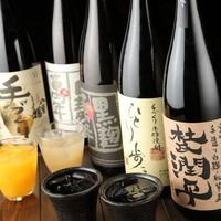 宮崎にある5つの蔵元から厳選した焼酎をご提供しています♪