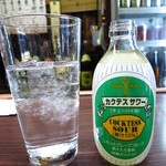 (有)旭屋酒店 - 白一(レモンサワー 焼酎200ml)530円 ガッツリ焼酎が注がれてくる!