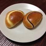 ビゴの店 - 料理写真:クリームパン 168円&チョコクリームパン 168円
