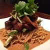 凛丹 - 料理写真:豚バラ肉の甘辛炒めのせ胡麻ソース和え麺