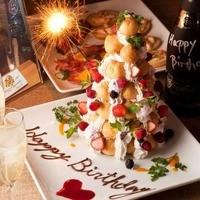 誕生日・記念日のお祝いに♪ロールケーキタワー!