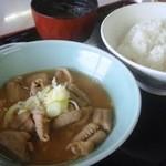 沼尻スキー場 第2レストハウス - もつ煮定食\1000(Tax5%)