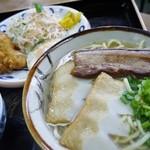 なかま食堂 - そば定食700円