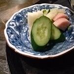天ぷら岡本 - 香の物