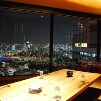 【絶景の夜景が見える】38階から大阪の夜景を見下ろす席