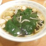 深川煉瓦亭 支店 - ご飯物に付く中華スープ