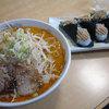 らーめん むすび家 - 料理写真:みそ野菜らーめん950円、 肉マヨ300円。