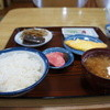 かじ橋食堂 - 料理写真:朝定食550円全景、これで十分の朝ご飯(2014.1.24)