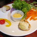 23907998 - 8種の野菜の温サラダ