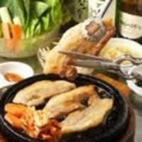 サムギョッサルセット(野菜5種類付き)