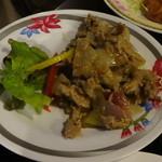 すろまい - 豚肉のクルーン炒め950円