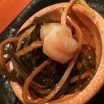 和風創作料理ぼんまり - ホタテの松前漬け