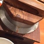 和風創作料理ぼんまり - 釜飯のふたを開けると