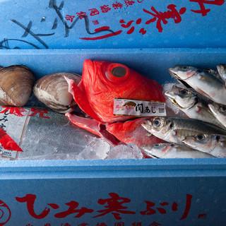 築地から当店直送!新鮮なお魚はやっぱりお味が違います!