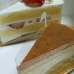 キャラバン サライ - 苺のショートケーキ(420円)、スフレチーズ(320円)