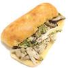 コンセント マーケット - 料理写真:3種のきのこと蒸し鶏のジェノベーゼサンド (315円) '14 1月中旬