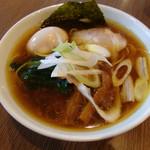 23966113 - 鶏醤油ラーメン(650円)、味玉(100円)