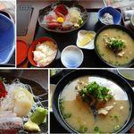 沼津魚市場食堂 - 刺身定食とあら汁 魚食館 沼津市場食堂 食彩賓館撮影