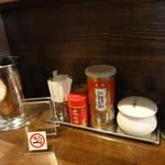 麺や ハレル家 - カウンター