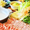 颯々 - メニュー写真:豆乳しゃぶしゃぶ鍋会席3000円