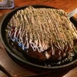茶里亭 - 豚玉お好み焼(850円)