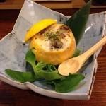 薗 - 白子の柚子釜。