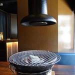 蔵月 - 炭火の火鉢