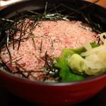 鰍 - 牛トロ丼セット(¥1,575) 2013.09