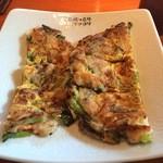 にっこりマッコリ - ミニ海鮮チヂミ