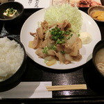 九州 熱中屋 - 生姜焼き定食850円