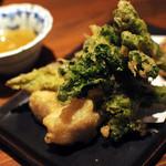 熊本居酒屋 新市街 - 旬野菜天ぷら盛り合わせ