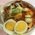 蒙古タンメン中本 - 「ハーフセット」850円の半蒙古丼(2014年2月)